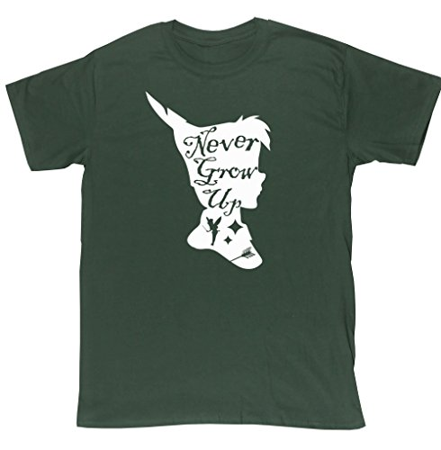hippowarehouse-never-grow-up-pan-silhouette-unisex-short-sleeve-t-shirt