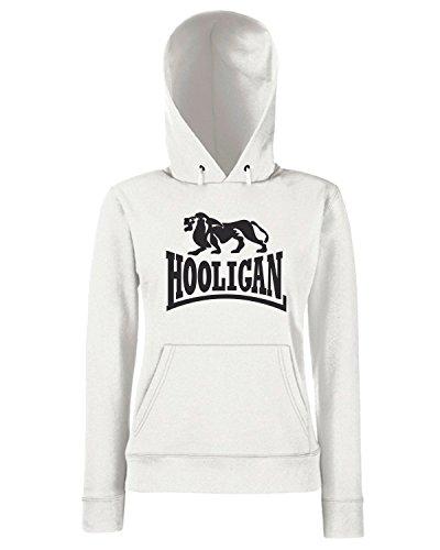 T-Shirtshock - Sweats a capuche Femme TUM0102 camise hooligan Blanc