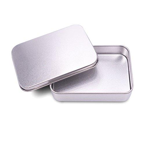 ASAVO Seifendose aus Metall, 10,2 x 6,8 x 2,5 cm (innen), für Reisen, Seifenbox, Seifenbehälter, Blechdose, Metalldose