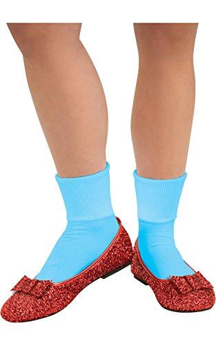 Dorothy rot Glitzer Schuhe Kleine Zauberer von Oz, Erwachsene Kostüm (Dorothy Zauberer Von Oz Kostüm Für Erwachsene)