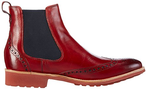 Melvin & Hamilton Damen Amelie 5 Chelsea Boots Rot (Crust Red/Ela.Navy/Rook D Red)