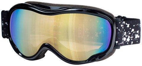 Dirty Dog Skibrille Bug 54055 Black mit Gold Mirror Brillenglas - 54055 Ski Skibrille