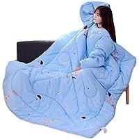 beautyjourney Manta con Mangas Manta de Colcha Perezosa 120 x 160 cm Saco de Dormir Engrosado Invierno Manta de televisión Funda de sofá Colcha Colcha