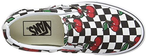 Vans Unisex-Erwachsene Classic Slip-On Niedrige Sneaker Nero (Black (Cherry Checkers - Black/True White))
