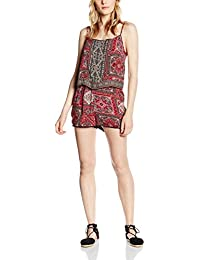 Only onlLILITH STRAP PLAYSUIT - Mono para mujer, multicolor (whisper white aop:marrakesh squares red), talla M (Talla del fabricante: 40)