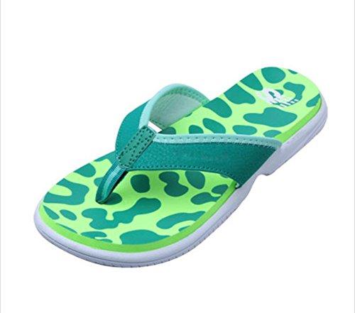 flip-folps Happy Lily ergonomico antiscivolo suola da piscina y-style tanga tacco interno o esterno scarpe scarpe casual pantofole per donne, Green, 7 UK