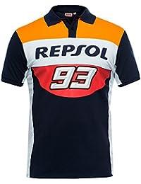 Repsol Honda Team 2018 Marc Marquez 93 - Polo para Hombre, Color Azul Marino,
