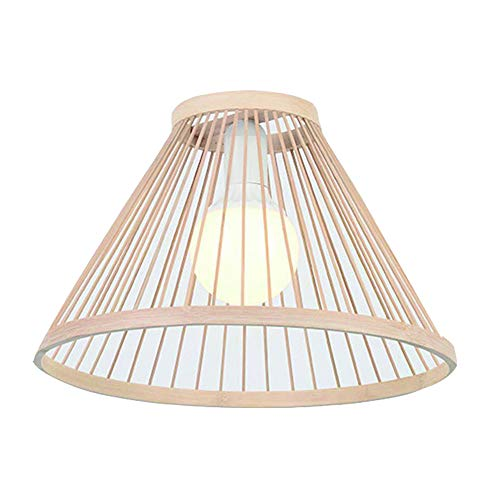 Ltongx Natürlicher Brown-Leuchter, Handgemachter Rattan-Lampenschirm, Hängender Oder Tabellen-Schatten