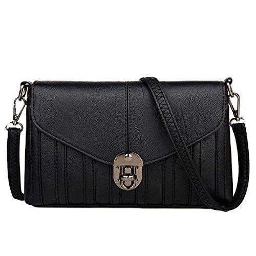 Frau Fashion Casual Schultertasche Messenger Bag Diagonal Paket Black