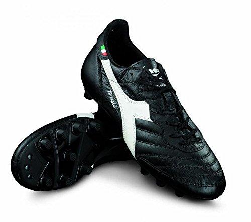 Diadora Brasil Italy OG MDPU Fußballschuhe Leder Handmade schwarz-weiß schwarz-weiß