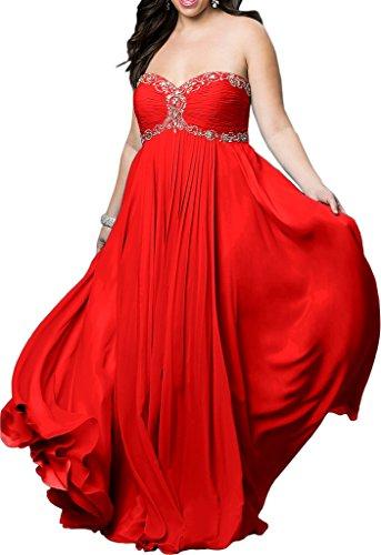 Victory Bridal - Robe - Trapèze - Femme Rouge