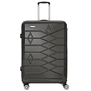 Aerolite Premium Large ABS Hard Shell 8 Wheel Spinner Travel Trolley Check In Hold Luggage Suitcase with Integrated TSA Approved 3 Digit Combination Lock (Charcoal, 29 Inch)
