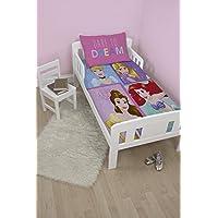 Disney Princess Princess–Juego de fundas para edredón, polyester-cotton, color rosa, solo