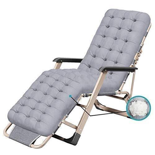 hwerelosigkeit Stuhl für schwere Menschen Faltbare einstellbare Sun Lounge Recliner Patio Garten Hof unterstützt 200 kg grau ()