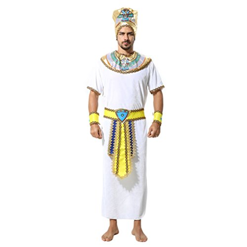Zhhlaixing Fasching Herren Partei/Halloween/Cosplay Kostüme Ägypten Pharao Styles Creative Performance Lange Robe- One Size,(Style ()