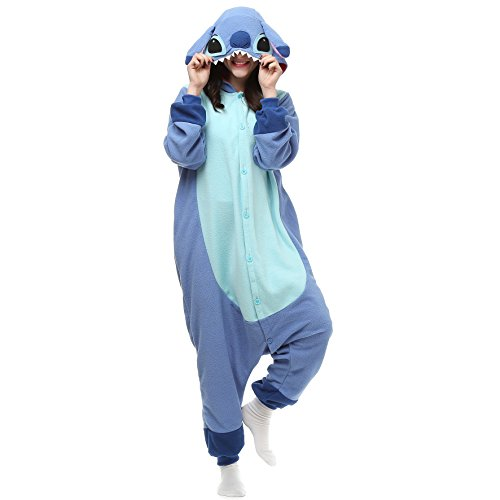 VU ROUL Mädchen Schlafanzug Gr. Small, Lilo and Stitch Blue (Mädchen In Monster Inc)