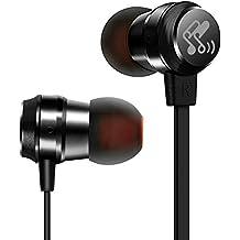 SoundPEATS Auriculares deportivos in-ear cascos Anti-sudor 3.5mm Auriculares en la oreja cableadas con micrófono para Xiaomi Huawei iPhone Ipad Ipod Android, Samsung-M20 (Negro)
