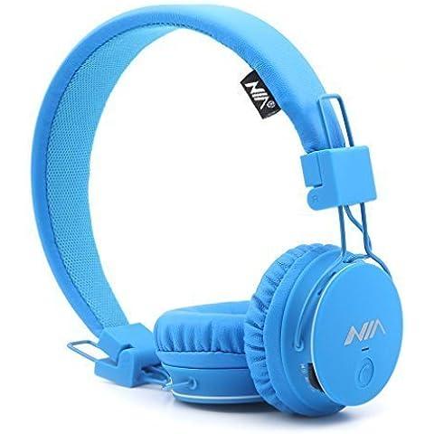 GranVela® X2 auriculares Bluetooth más de la oreja, plegable 4 en 1 estéreo niños auricular inalámbrico de auriculares manos libres con micrófono y MicroSD Card Player, Radio, AUX para iPhone, Samsung y más