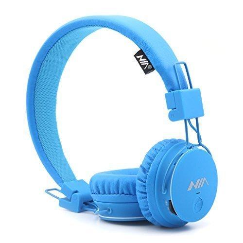 Wiederaufladbare Am Fm-radio, Sony (GranVela® X2 Over-Ear-Bluetooth-Kopfhörer, faltbar 4 in 1 Stereo Kinder Kopfhörer-drahtlose freihändige Kopfhörer mit Mikrofon und MicroSD Card Player, Radio, AUX für iPhone, Samsung und mehr (blau))