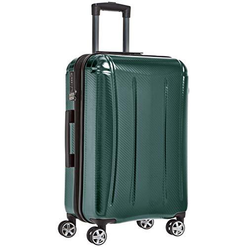 AmazonBasics - Maleta rígida «hardside» Oxford, con ruedas - 61 cm, Verde