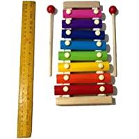 Crafts India Wooden Xylophone for Kids Musical Toy with 8 Notes Multi Color Premium Big 9.5 inches