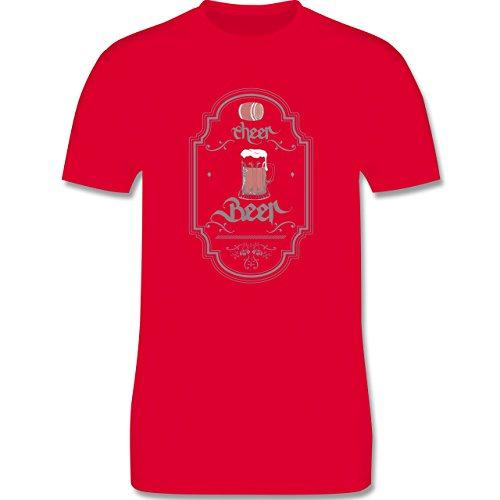 Statement Shirts - Cheer Beer - Herren Premium T-Shirt Rot