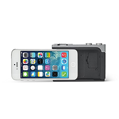Miggo Grip Photo Pictar One - Obiettivo per trasformare l'iPhone in una reflex, compatibile con iPhone 4S/5/5S/6/6S/6SE/7, colore: Nero/Argento