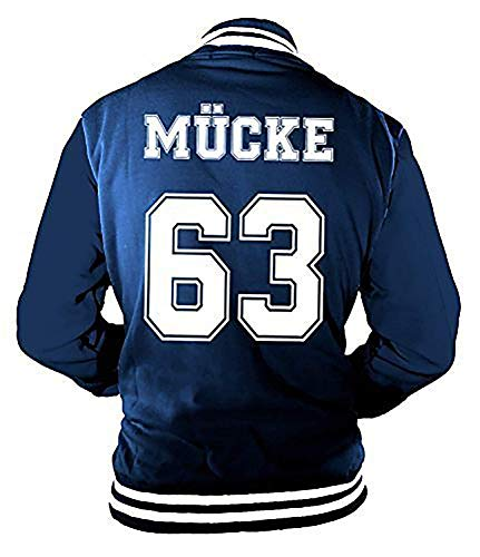 Herren College Jacke Mücke Buddy Movie Star Film, 63 Baseballjacke -