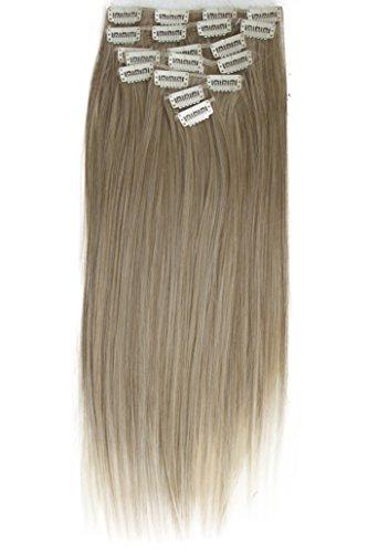 PRETTYSHOP XXL 8 parti Extension SET 50cm estensioni dei capelli a pressare diritto o variazioni di colore