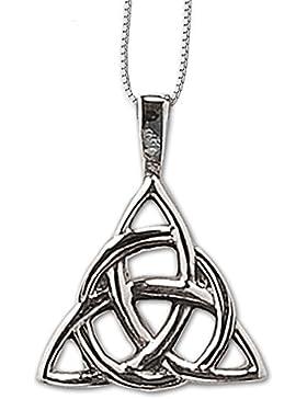 Anhänger Keltischer Knoten Amulett 925er Silber Schmuck Schutzamulett mit Kette Halskette Silberkette 463