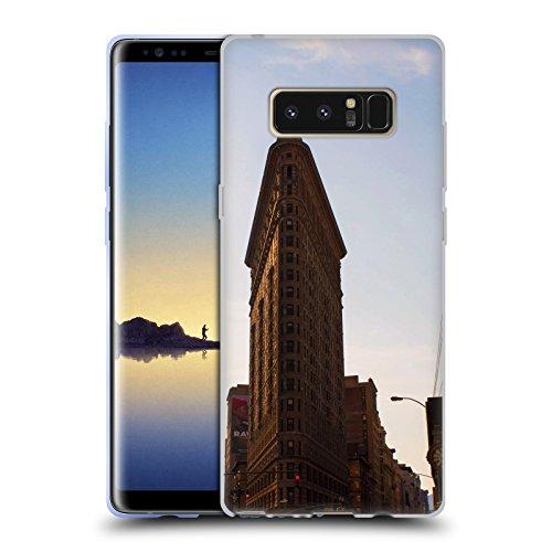 Flat Iron NY Orte 4 Soft Gel Hülle für Samsung Galaxy Note8 / Note 8 (Flat Iron Gel)