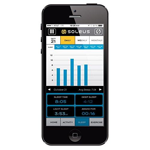 Soleus GO! Wireless Bluetooth Fitnessband Aktivitätstracker Schlaftracker Kompatibel mit iOS & Android Smartphones und Tablets - 3