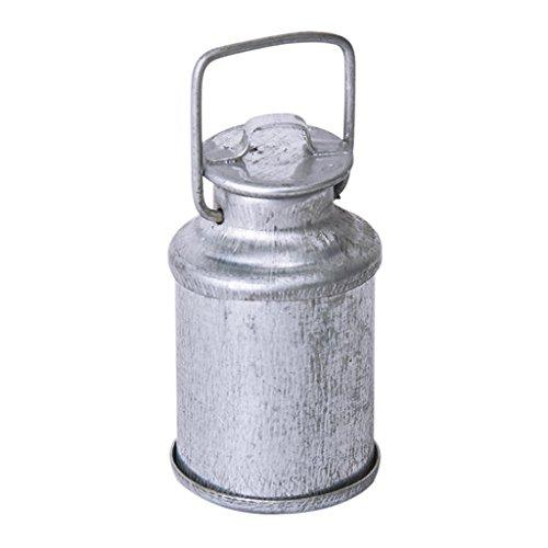 REFURBISHHOUSE Jahrgang 1/12 Puppenhaus Miniatur Milchkanne mit Deckel Flasche