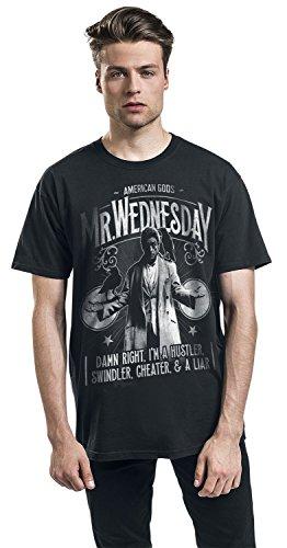 American Gods Mr. Wednesday T-Shirt Schwarz Schwarz