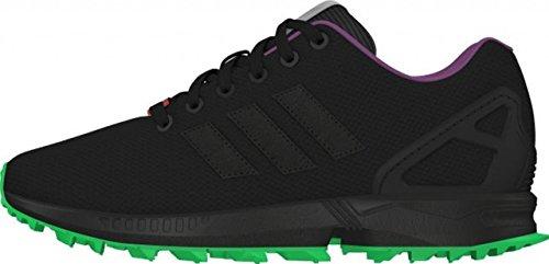 adidas Originals ZX Flux RS Schuhe Herren Sneaker Turnschuhe Schwarz AF6341 core black/flash lime/periwinkle