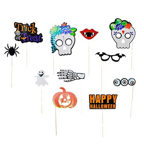 Amosfun Accesorios de cabina de fotos de fiesta de Halloween de...