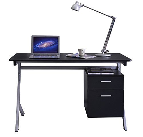 Compare Prices for SixBros. Computer Desk Black/Grey – CT-3365A/2080 on Amazon