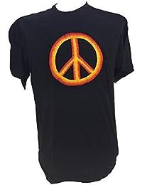 Brodé Peace T Shirt de la paix - Fair Trade coton vendu par One World is Enough.