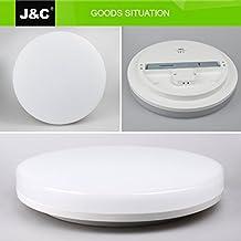 Plafones,J&C® 18W IP44 Plafón baño LED Iluminación de techo 1550LM Lámpara LED,in pc material Resistente humedad y resistente corrosión,blanco natural ronda(4000-4500K) AC100-240V