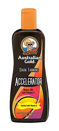 Australian Gold, intensificatore, Dark Tanning Accelerator, lozione, 250ml (etichetta in lingue inglese)