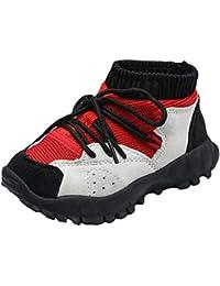 Insun Zapatillas de Deporte para Exterior para Niños y Niñas Zapatos con un Ajuste Tipo calcetín