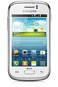 Samsung Galaxy Young DUOS Smartphone, Display 3.3 Pollici, Qual Band, 1GHz, Fotocamera 3,2 Megapixel, Bluetooth, Dual-SIM, Android 4.1, Bianco [Germania]