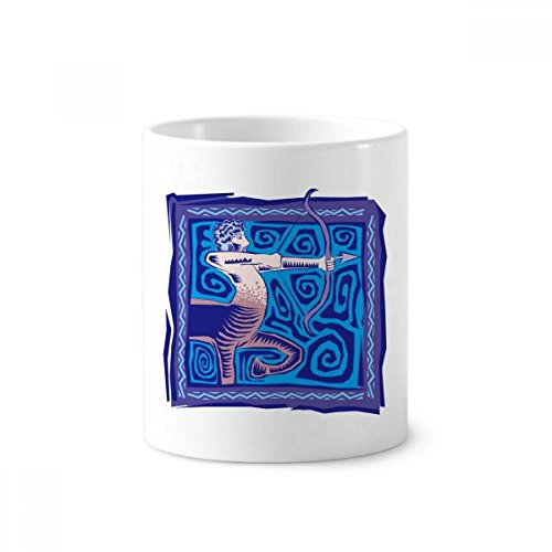DIYthinker Konstellation Schütze Mexicon Kultur Gravieren Keramik Zahnbürste Stifthalter Tasse Weiß Cup 350ml Geschenk 9.6cm x 8.2cm hoch Durchmesser