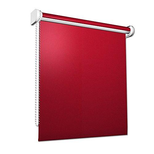 VICTORIA M Tenda a rullo oscurante per finestre / 120 x 175cm / rosso
