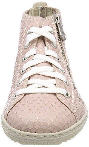 Rieker L9447, Sneaker a Collo Alto Donna Rosso (Rosa)
