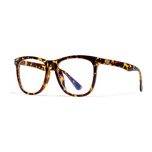 Anti-blaue Brille schwarz gerahmt literarische flache Brille männlich/weiblich indigofarben