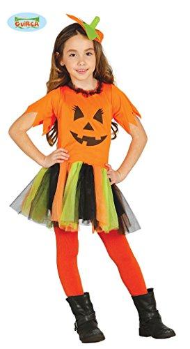 Kürbis Tutu Halloween Kostüm für Kinder Halloweenkostüm Mädchen Kinderkostüm orange Gr. 110-146, Größe:110/116
