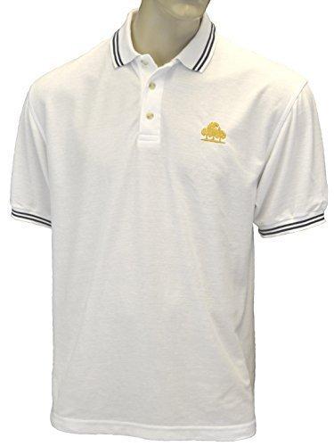 Eingebrannt/Bestickt - Bruntwood Logo Aufgeld Gespitzter Polo Hemd - Logo Premium Tipped Polo - Herren & Damen Weiß/Marine Blau