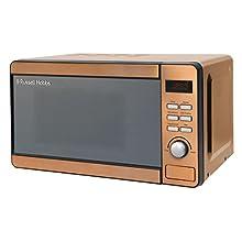 Russell Hobbs RHMD804CP Copper Digital Microwave, Steel/Plastic/Glass