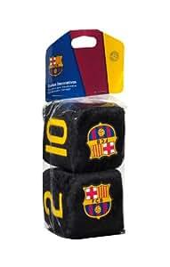 Sumex FCB0605 Plüschwürfel FC Barcelona, 7 x 7cm, Schwarz